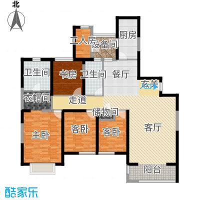 仁恒河滨花园200.00㎡B2户型4室2厅2卫