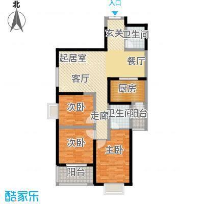 铭城16号134.09㎡5号楼D厨房连阳台赠户型3室2卫1厨