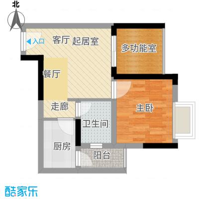 淮远古镇48.31㎡5、6号楼5/6号房(带院馆)户型1室1卫1厨