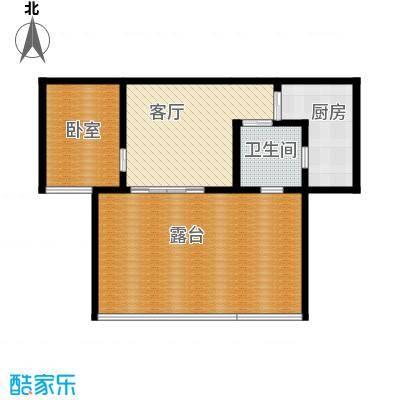 华仁凤凰城61.97㎡M2单身公寓户型1室2厅1卫
