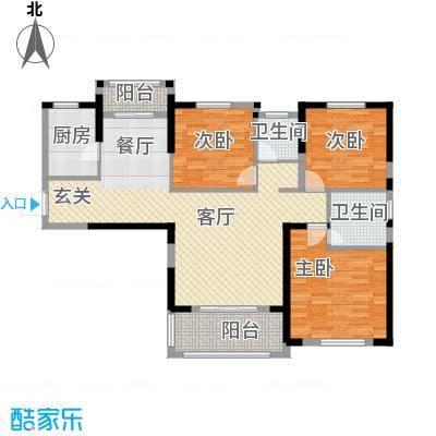 统建天成美雅135.00㎡5号楼E3户型3室2厅2卫