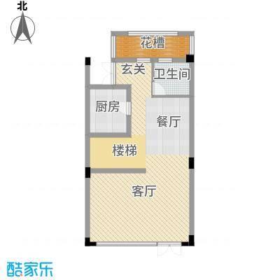 艾维诺森林70.24㎡联排E1一层户型10室