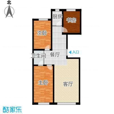 御景名家117.00㎡J户型3室2厅1卫