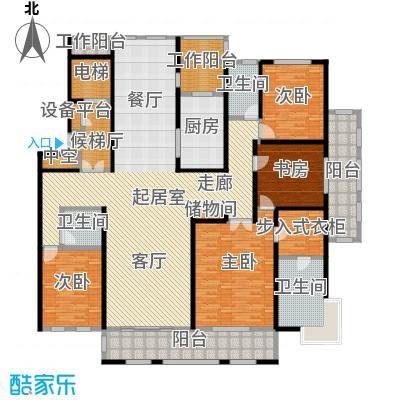 鼎旺大观258.00㎡C户型4室3厅3卫户型4室3厅3卫