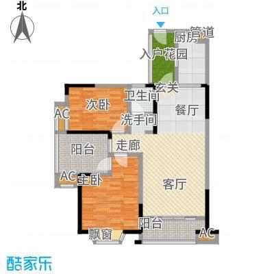 鑫天御景湾90.70㎡G1两房两厅一卫户型2室2厅1卫