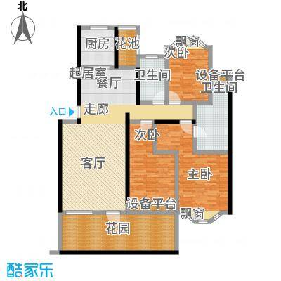 南天阳光南天阳光N014户型 三房两厅两卫 3室2厅2厨户型