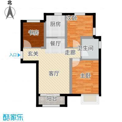 天津诺德中心89.00㎡C1户型3室2厅1卫