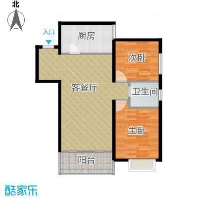 曲江上郡92.30㎡F户型2室2厅1卫