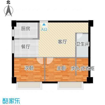 万通金府国际87.69㎡8号楼2门404-1304户型2室2厅1卫