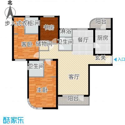 仁恒海河广场131.51㎡3#楼1门013户型3室2厅2卫