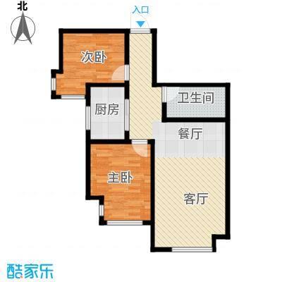 听涛苑85.00㎡H户型2室1厅1卫