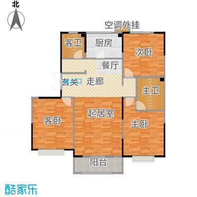 卫津领寓138.47㎡F\'户型 3室2厅2卫1厨户型3室2厅2卫