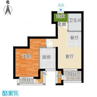 青年城青年城户型图一室两厅一卫一厨63平米(1/3张)户型10室
