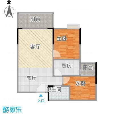 保利中辰广场B1栋07单元户型2室1厅1卫1厨