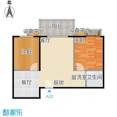 新旅城66.36㎡新旅城户型图A4(8/11张)户型2室2厅1卫