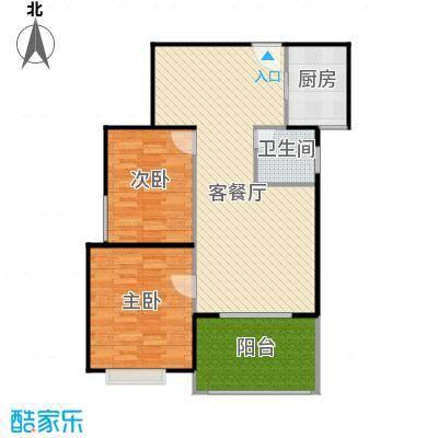 香缇溪岸92.00㎡1#G3户型2室2厅1卫