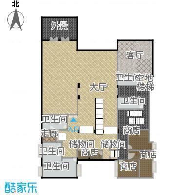财富城堡621.00㎡b1-8地下一层平面户型10室