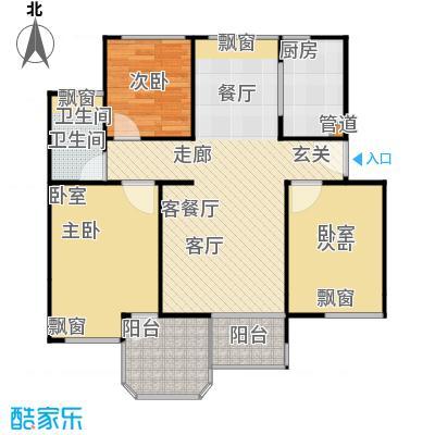 中梁英伦印象91平A3户型 4房2厅1卫户型