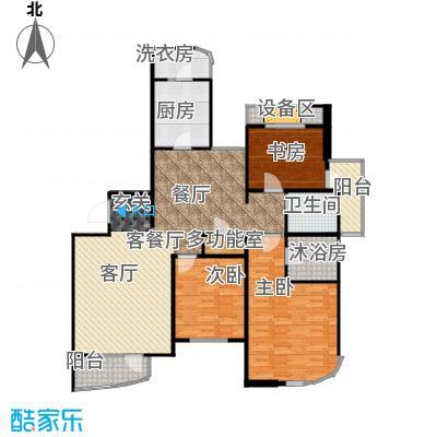 仁恒海河广场127.58㎡峰云阁--E3-户型3室1厅1卫1厨