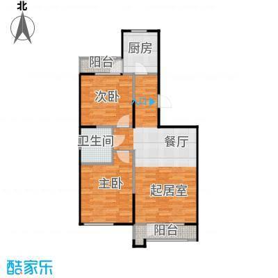 泽天下90.00㎡二期10、11、14、15、16#楼标准层A1户型1室1厅1卫
