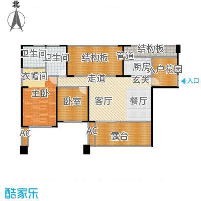 长城半岛城邦111.00㎡长城半岛城邦户型图B2型偶数层户型(12/17张)户型2室2厅2卫