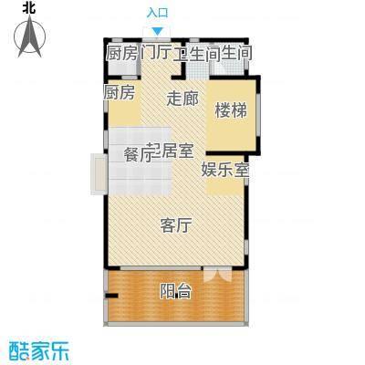金隅乐府330平米坡地别墅入户层平面户型