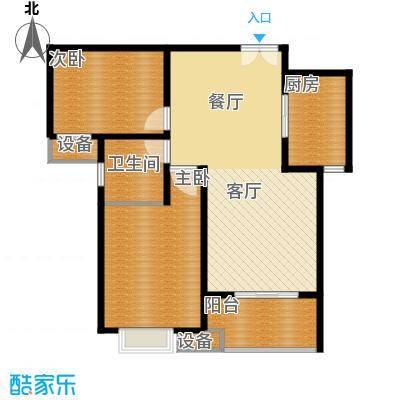 中国铁建梧桐苑85.86㎡户型10室