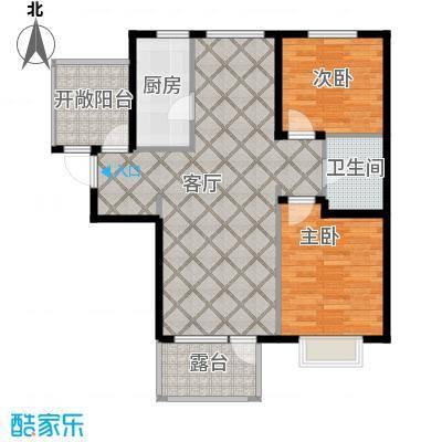 金隅・观澜时代89.00㎡B1户型2室2厅1卫