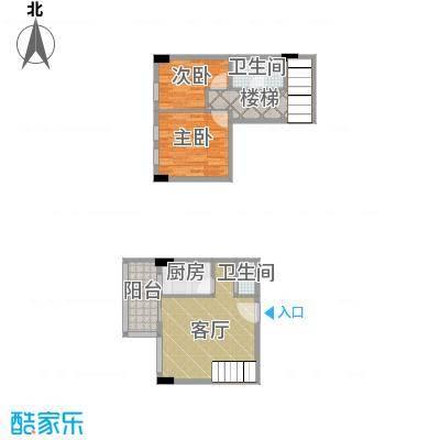 湘隆时代大公馆85.06㎡c4-4003户型2室1厅2卫1厨
