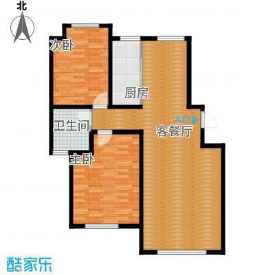 听涛苑108.00㎡C户型2室2厅1卫