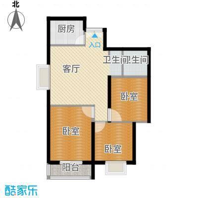 上林沣苑107.66㎡华贵丽居户型3室2厅1卫