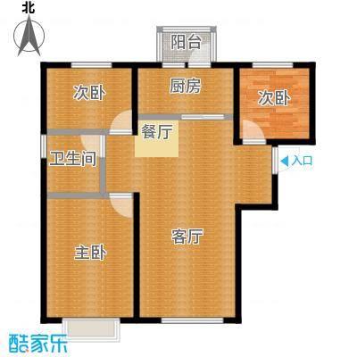 龙跃财富公馆85.00㎡A户型3室2厅1卫