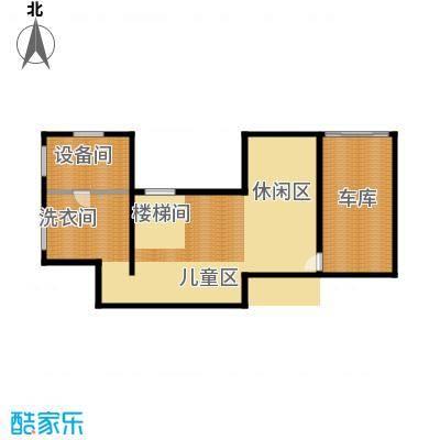 天恒・半山世家110.59㎡B半地下室平面图户型7室3厅4卫
