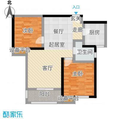 统建天成美雅87.00㎡5、6、8号楼B2户型 2室2厅1卫户型2室2厅1卫