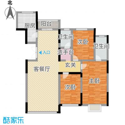 观澜湖别墅145.00㎡倚澜观邸二期2#楼高层1户型3室2厅2卫