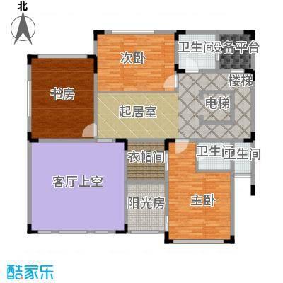 紫薇永和坊112平米2层空间户型
