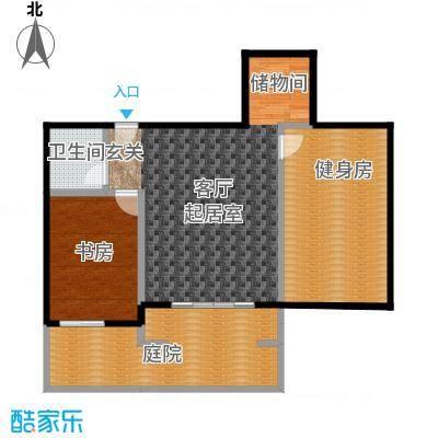 领秀・翡翠山97.00㎡D2下跃户型2室2厅1卫