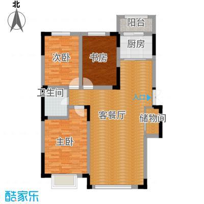 观澜湖别墅120.00㎡倚澜观邸二期5#楼高层2户型3室2厅1卫