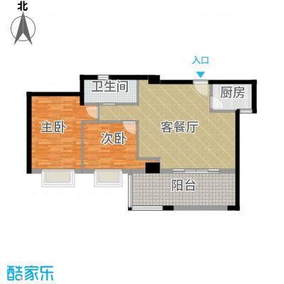 居礼润园89.99㎡1&2号公寓户型2室1厅1卫1厨