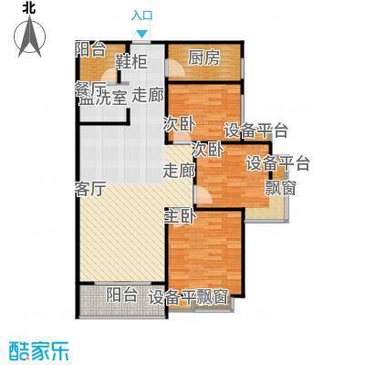 新旅城107.87㎡新旅城户型图4#C1户型3室2厅1卫1厨(12/14张)户型10室