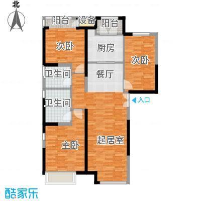 泰达城河与海142.64㎡户型3室2厅2卫