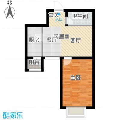 新梅江雅境新枫尚61.05㎡H03户型1室1卫1厨