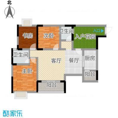 香榭国际99.88㎡2011年2期1批次B5户型2室2厅2卫