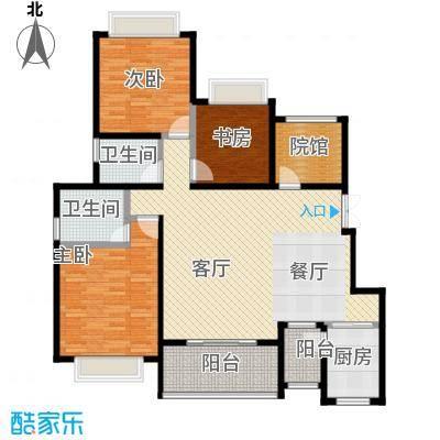 中国铁建山水时光115.62㎡洋房D4-6户型3室2厅2卫