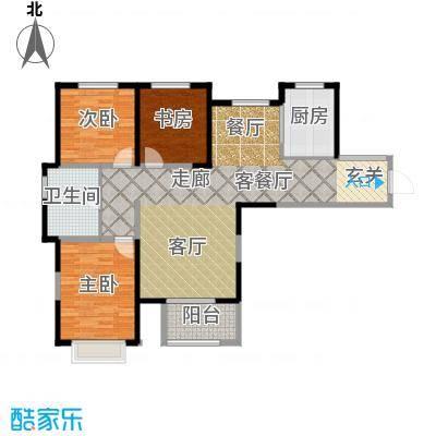 中建滨海壹号126.00㎡逸品居4号楼户型3室2厅1卫