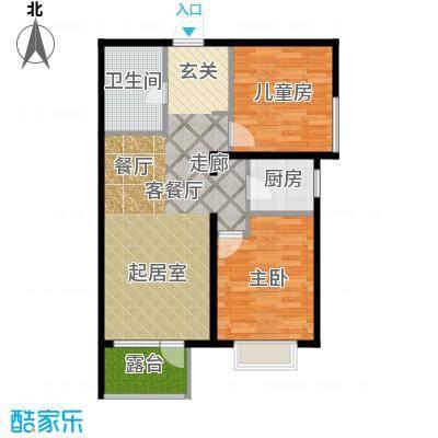 金隅・观澜时代88.00㎡G13户型2室2厅1卫