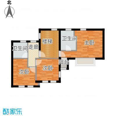 北京半岛66.65㎡B二层平面图户型10室