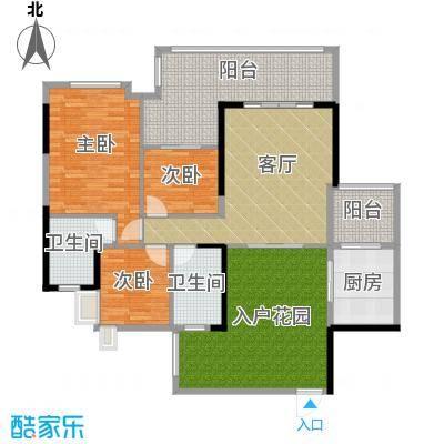 泊岸君庭114.67㎡6栋03单位户型3室1厅2卫1厨