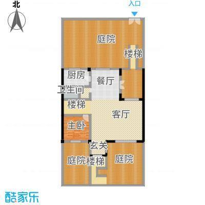 联发滨海琴墅95.00㎡别墅F1一层户型1室2厅1卫