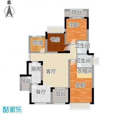 中国铁建山水时光124.78㎡洋房A2户型3室2厅2卫